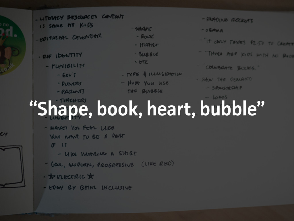 """Shape, book, heat, bubble"""