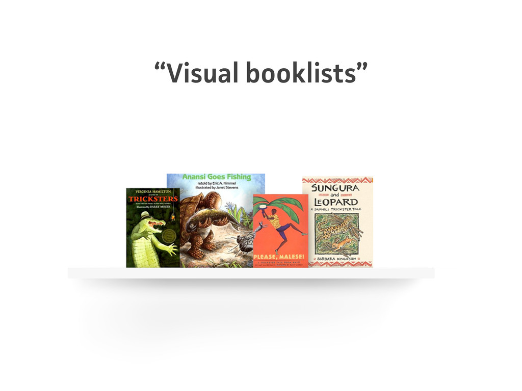 """Visual booklists"""