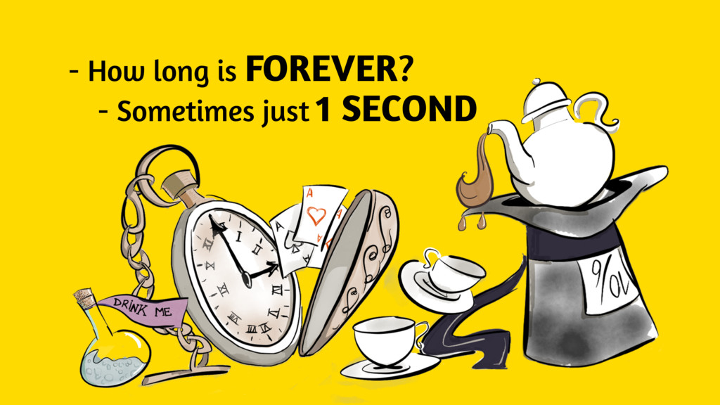 - How long is FOREVER? - Sometimes just 1 SECOND