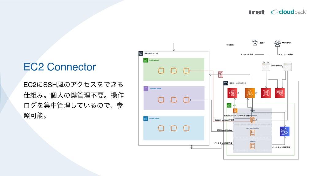 EC2 Connector EC2ʹSSH෩ͷΞΫηεΛͰ͖Δ Έɻݸਓͷ伴ཧෆཁɻૢ࡞...