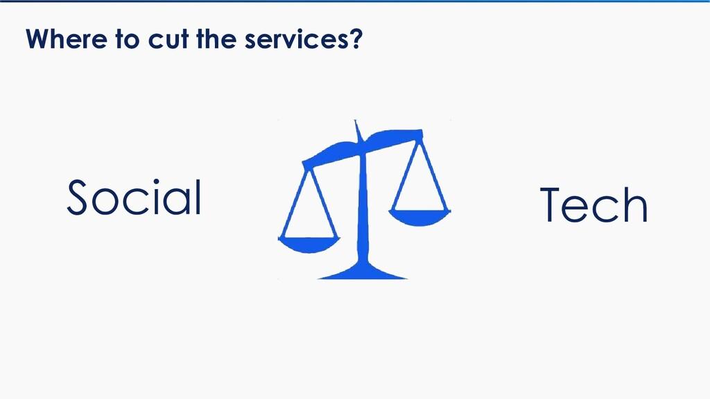 Where to cut the services? Social Tech