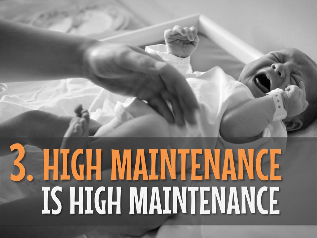 3. HIGH MAINTENANCE IS HIGH MAINTENANCE