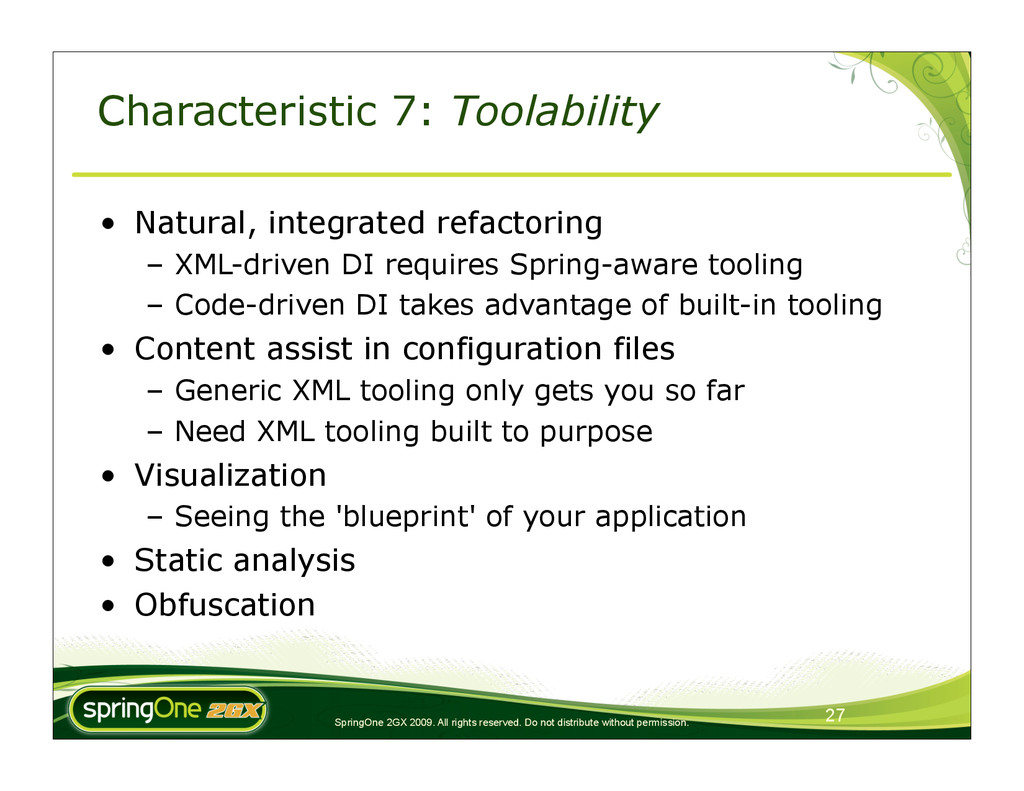SpringOne 2GX 2009. All rights reserved. Do not...