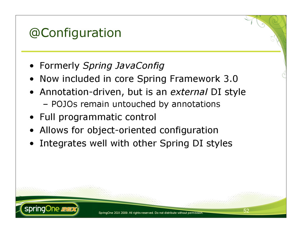 52 SpringOne 2GX 2009. All rights reserved. Do ...