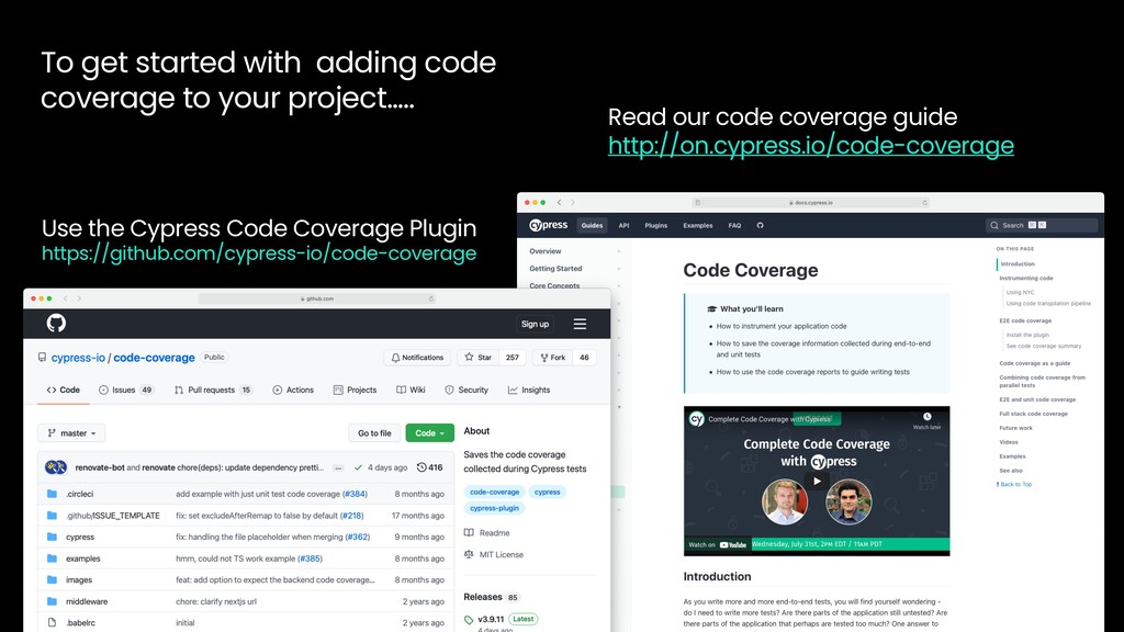To get started with adding code coverage to you...