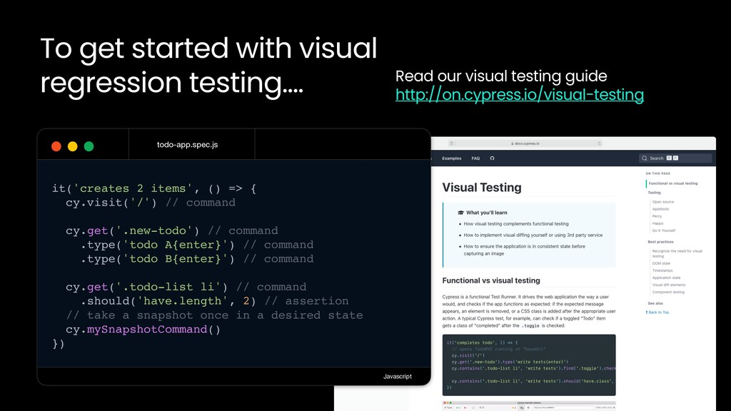 To get started with visual regression testing…....