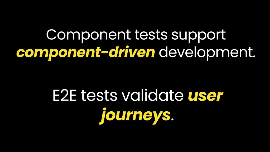 Component tests support component-driven develo...