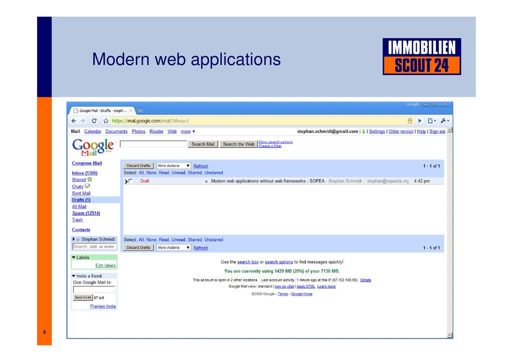 4 Modern web applications