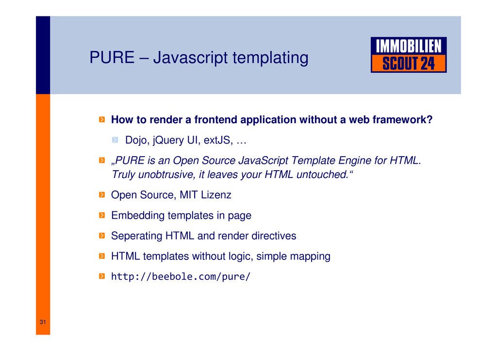 31 PURE – Javascript templating How to render a...