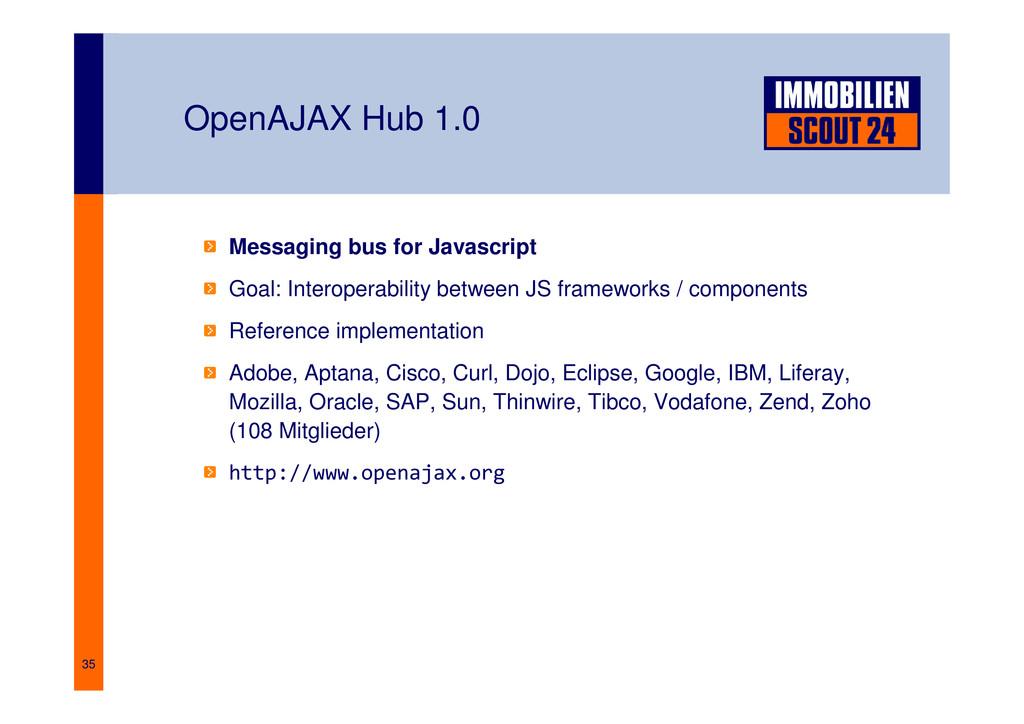 35 OpenAJAX Hub 1.0 Messaging bus for Javascrip...
