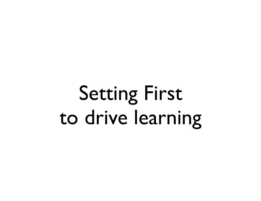 Setting First	 