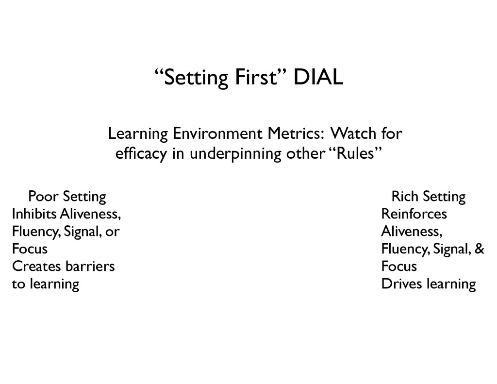 """Setting First"" DIAL Learning Environment Metri..."