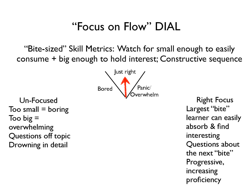 """Focus on Flow"" DIAL ""Bite-sized"" Skill Metrics..."