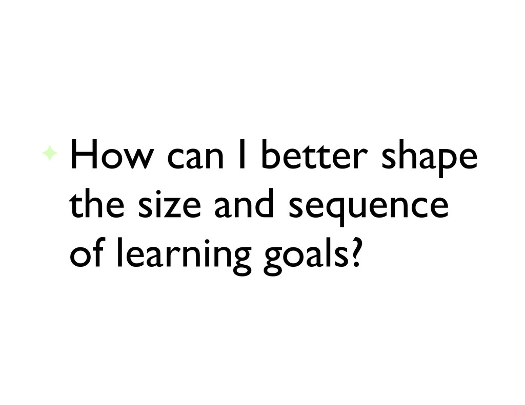 ✦ How can I better shape the size and sequence ...