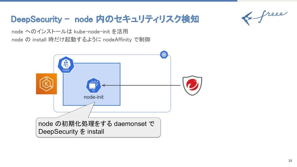 39 node へのインストールは kube-node-init を活用 node の i...