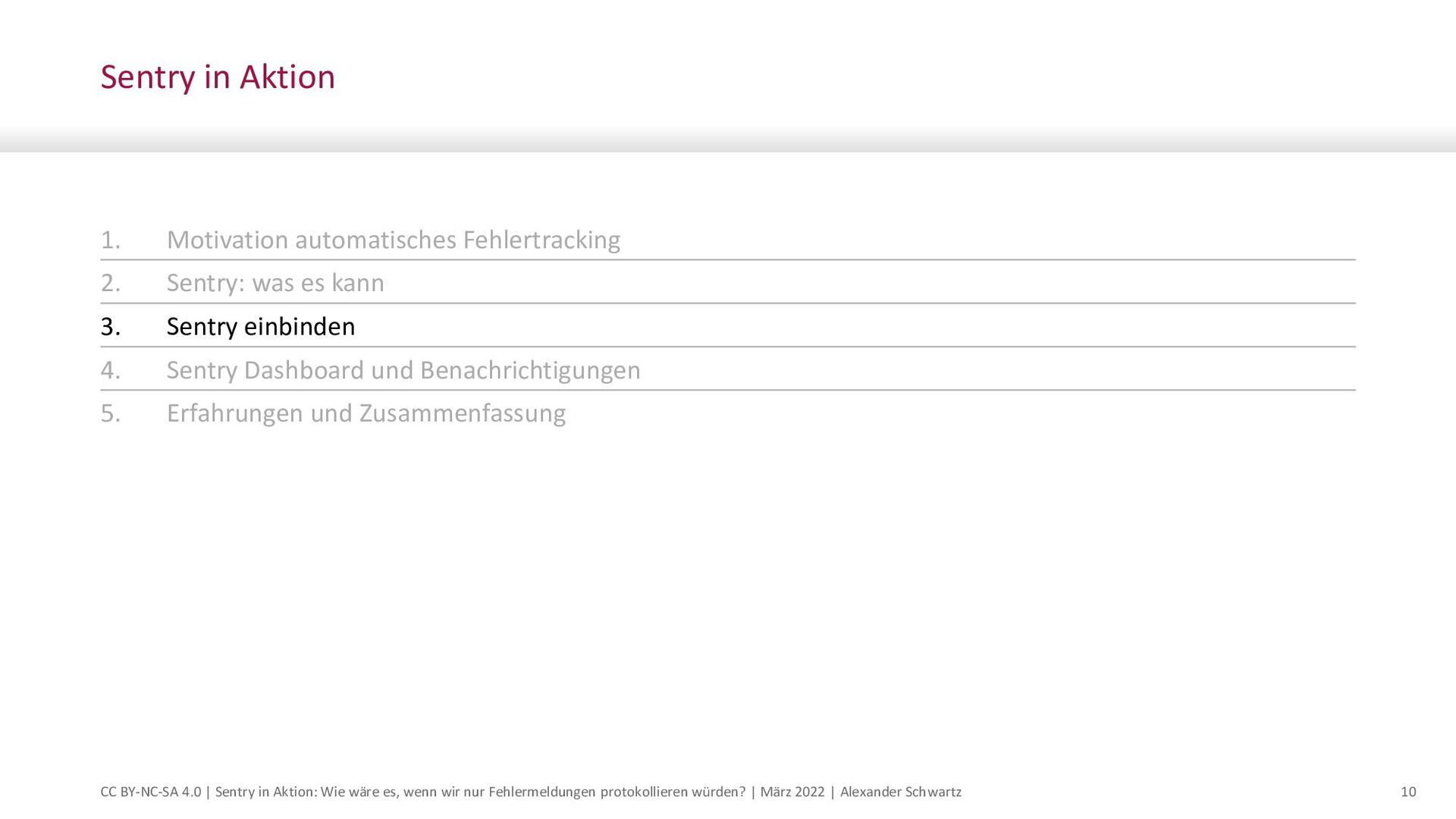 Sentry ist eine Error-Tracker-Software. Eingehe...