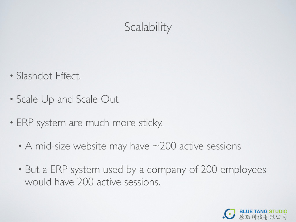 Scalability • Slashdot Effect. • Scale Up and S...