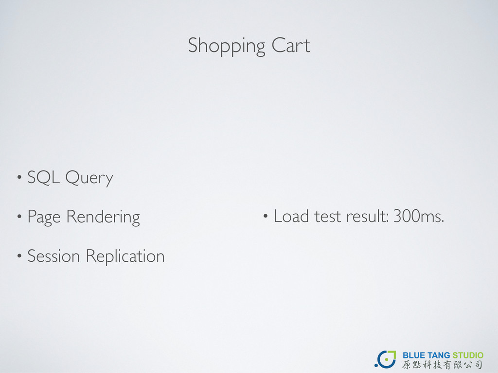 Shopping Cart • SQL Query • Page Rendering • Se...