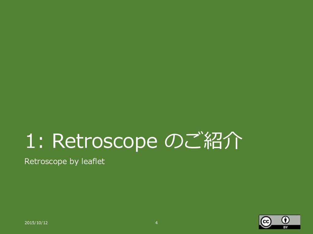 1: Retroscope のご紹介 Retroscope by leaflet 2015/1...