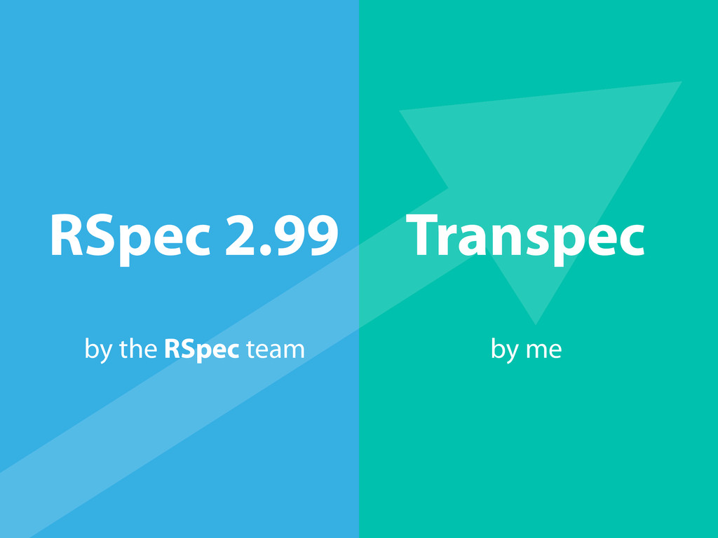 RSpec 2.99 Transpec by the RSpec team by me