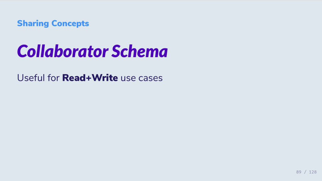 Sharing Concepts Collaborator Schema Useful for...