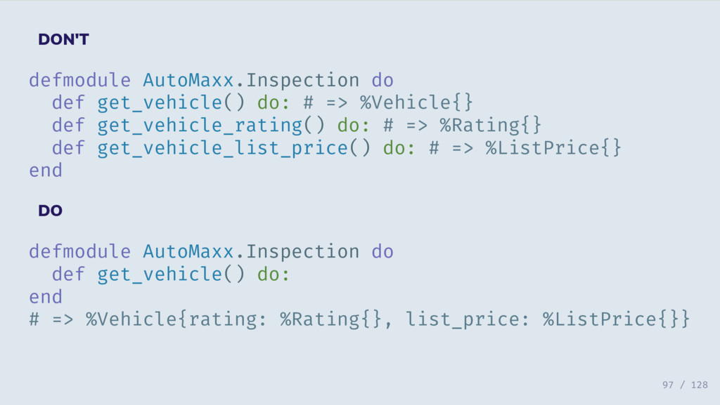 DON'T defmodule AutoMaxx.Inspection do def get_...