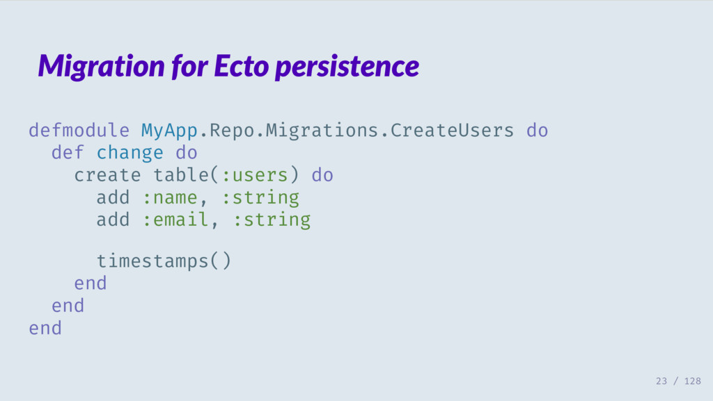 Migration for Ecto persistence defmodule MyApp....