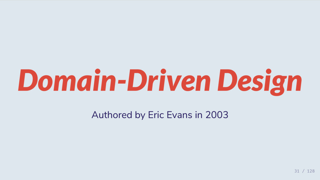 Domain-Driven Design Authored by Eric Evans in ...