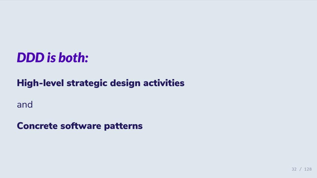 DDD is both: High-level strategic design activi...