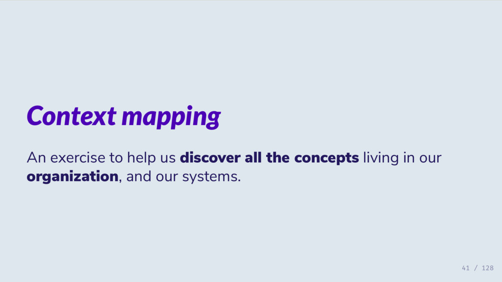 Context mapping An exercise to help us discover...