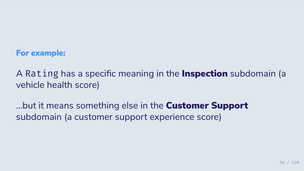 For example: A Rating has a speci c meaning in ...