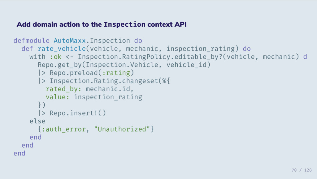 Add domain action to the Inspection context API...