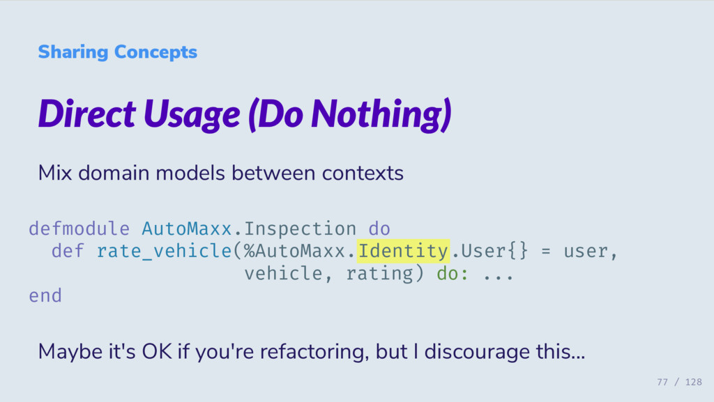 Sharing Concepts Direct Usage (Do Nothing) Mix ...