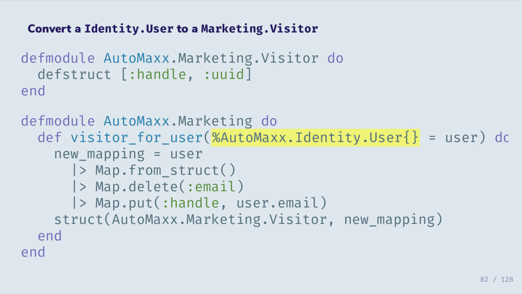 Convert a Identity.User to a Marketing.Visitor ...