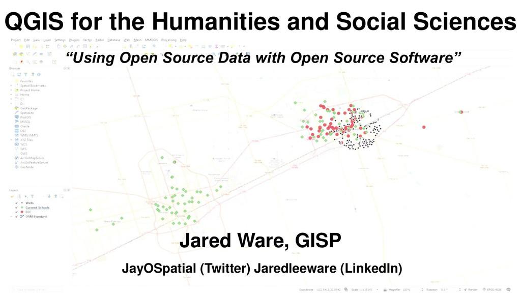 JayOSpatial (Twitter) Jaredleeware (LinkedIn) Q...