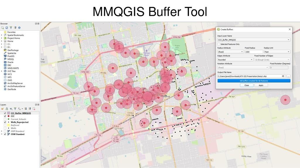 MMQGIS Buffer Tool