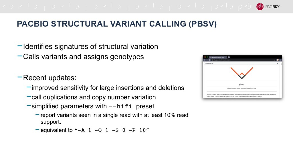 PACBIO STRUCTURAL VARIANT CALLING (PBSV) -Ident...
