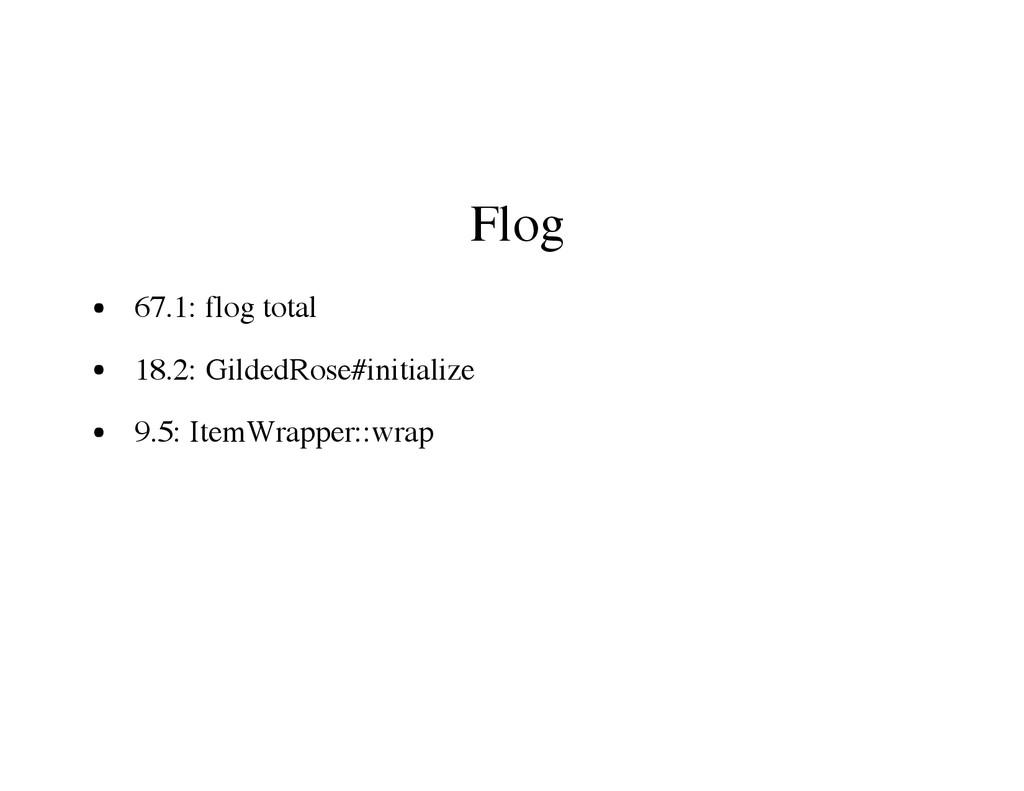 Flog 67.1: flog total 18.2: GildedRose#initiali...