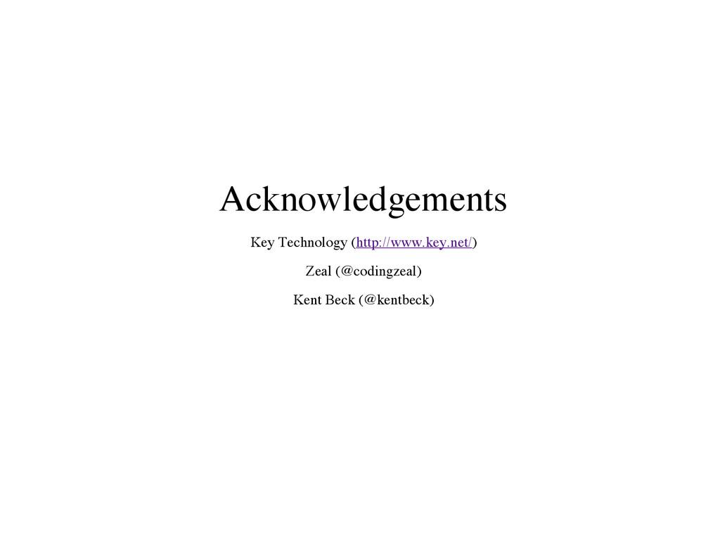 Acknowledgements Key Technology (http://www.key...