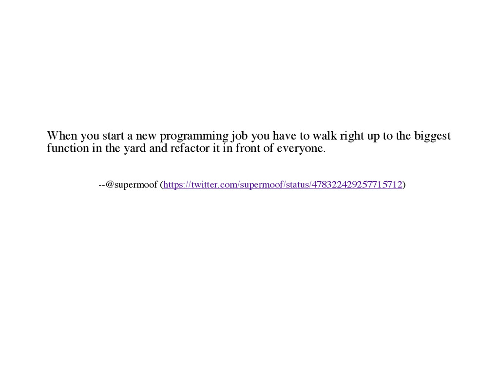 When you start a new programming job you have t...