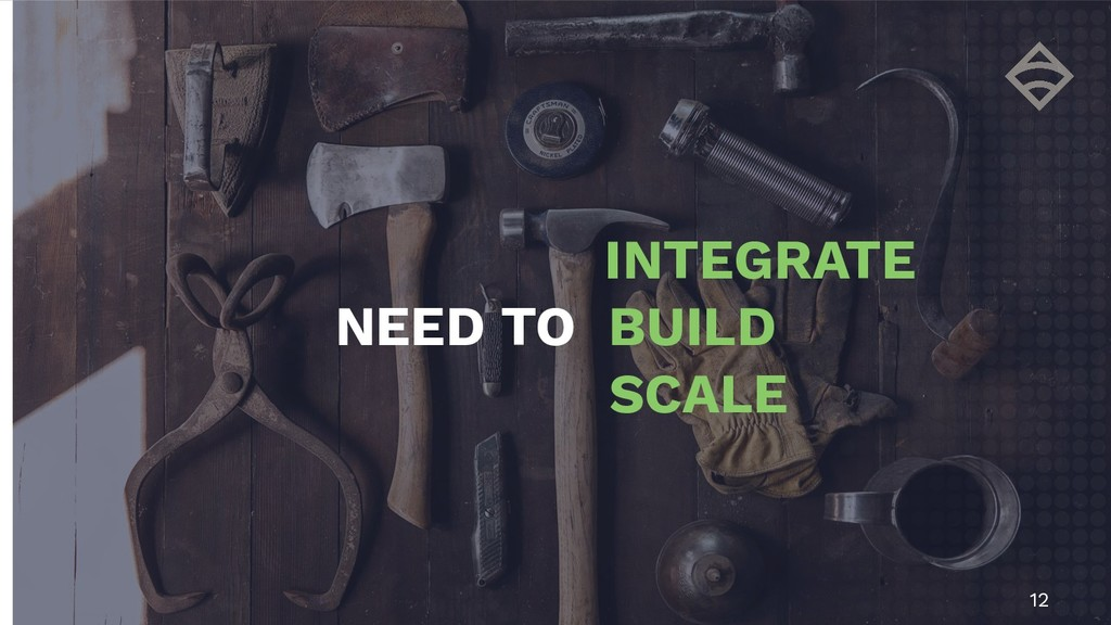 12 INTEGRATE NEED TO BUILD SCALE