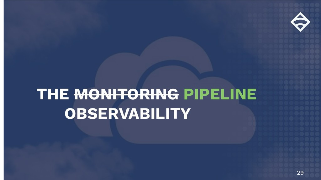 29 THE MONITORING PIPELINE OBSERVABILITY
