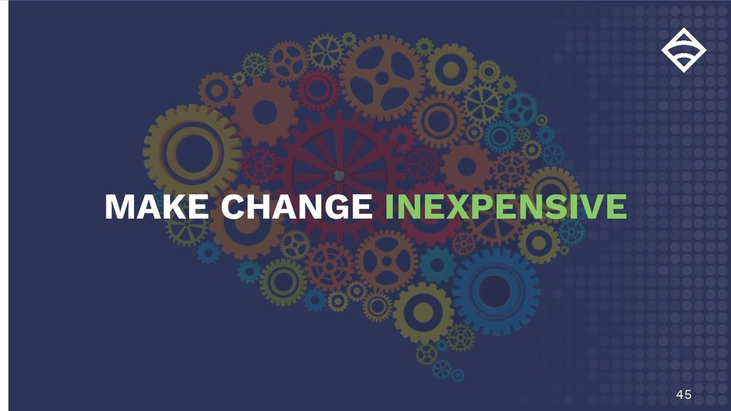 45 MAKE CHANGE INEXPENSIVE