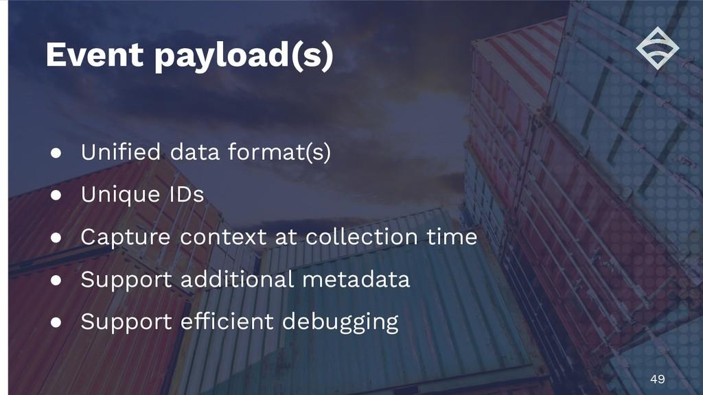 ● Unified data format(s) ● Unique IDs ● Capture ...