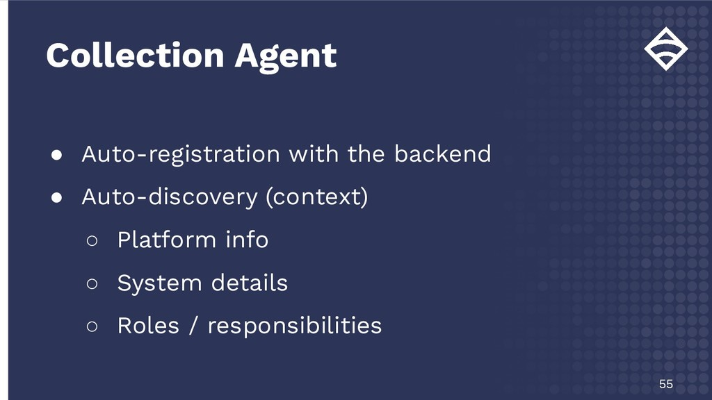 ● Auto-registration with the backend ● Auto-dis...