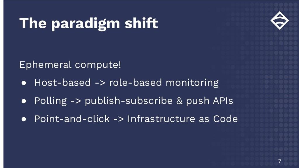 Ephemeral compute! ● Host-based -> role-based m...