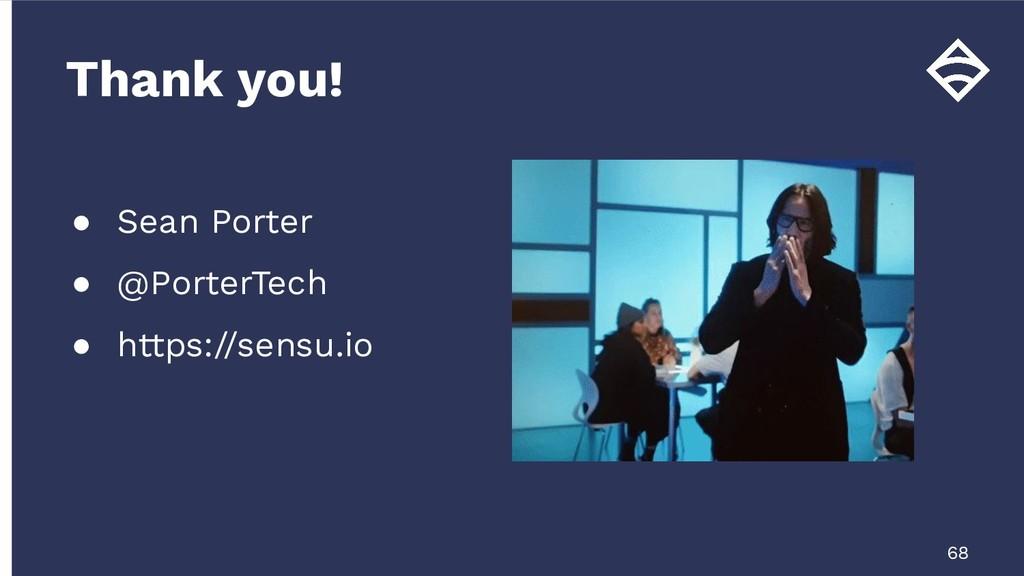 ● Sean Porter ● @PorterTech ● https://sensu.io ...