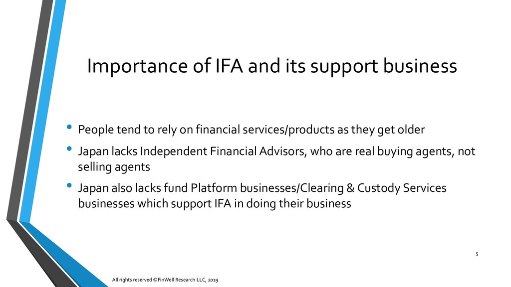 Importance of IFA and its support business All ...
