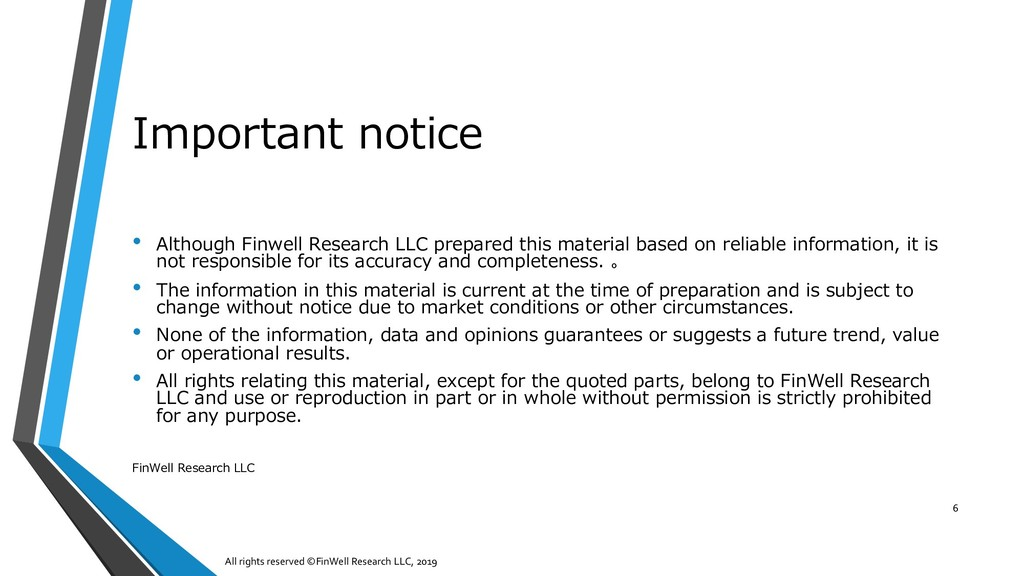 Important notice • Although Finwell Research LL...