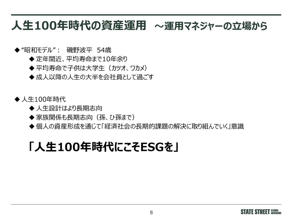 """8 人生100年時代の資産運用 ~運用マネジャーの立場から """"昭和モデル"""": 磯野波平 54..."""